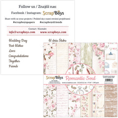 "Romantic Soul - ScrapBoys - 6""X6"" Patterned Paper Pad"