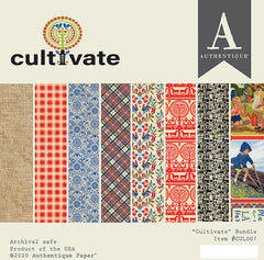 "Cultivate - Authentique - Double-Sided Cardstock Pad 6""X6"" 20/Pkg"