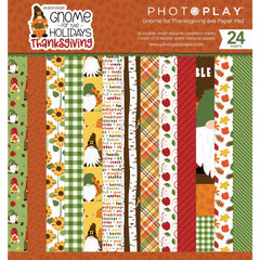 "Gnome For Thanksgiving - Photo Play - Double-Sided Paper Pad 6""X6"" 24/Pkg"