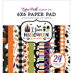 "I Love Halloween - Echo Park - Double-Sided Paper Pad 6""X6"" 24/Pkg"