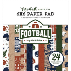 "Football - Echo Park - Double-Sided Paper Pad 6""X6"" 24/Pkg"