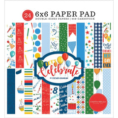 "Let's Celebrate - Carta Bella - Double-Sided Paper Pad 6""X6"" 24/Pkg"