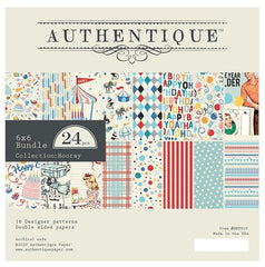 "Hooray - Authentique - Double-Sided Cardstock Pad 6""X6"" 24/Pkg"