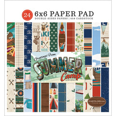 "Summer Camp - Carta Bella - Double-Sided Paper Pad 6""X6"" 24/Pkg"