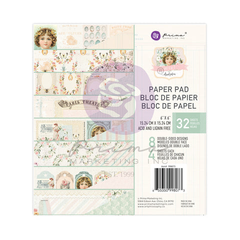 "Santorini - Prima Marketing Double-Sided Paper Pad 6""X6"" 30/Pkg"