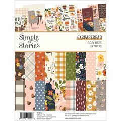 "Cozy Days - Simple Stories - Double-Sided Paper Pad 6""X8"" 24/Pkg"