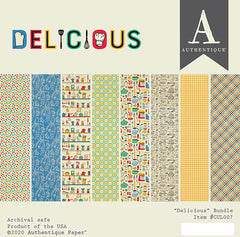 "Delicious - Authentique - Double-Sided Cardstock Pad 6""X6"" 20/Pkg"