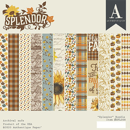 "Splendor - Authentique - Double-Sided Cardstock Pad 6""X6"" 24/Pkg"