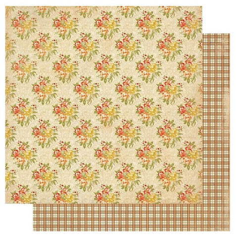 "Gracious - Authentique - Double-Sided Cardstock 12""X12"" - #6 Autumn Cabbage"
