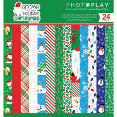 "Gnome For Christmas - Photo Play - Double-Sided Paper Pad 6""X6"" 24/Pkg"