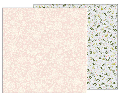 "Jen Hadfield Heart Of Home Double-Sided Cardstock 12""X12"" - HEIRLOOM FLORAL"