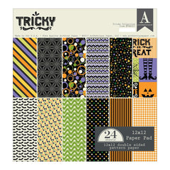 "Tricky - Authentique Double-Sided Cardstock Pad 12""X12"" 24/Pkg"