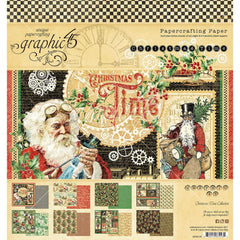 "Christmas Time - Graphic 45 - Double-Sided Paper Pad 8""X8"" 24/Pkg"