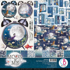 "Moon & Me - Ciao Bella - Double-Sided Paper Pack 90lb 12""X12"" 8/Pkg"