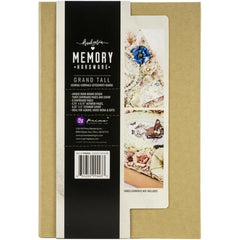 "Prima - Memory Hardware - Chipboard Album 9""X6.25""X2.75"" - Kraft Grand Tall W/6 Pages"