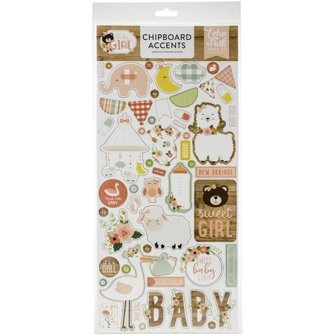 "Baby Girl - Echo Park - Chipboard 6""X13"" - Accents"