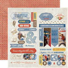 "Quest Double-Sided Cardstock Die-Cut Sheet 12""X12"" - Accents"