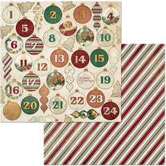 "Yuletide Carol Double-Sided Cardstock 12""X12"" - Advent"
