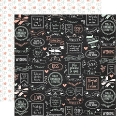 "Our Wedding - Echo Park - Double-Sided Cardstock 12""X12"" - Always & Forever"