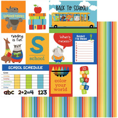 "Recess - Photo Play - Double-Sided Cardstock 12""X12"" - Back To School"
