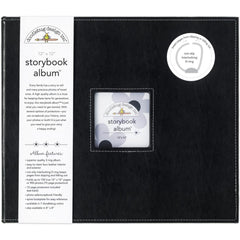 "Doodlebug Storybook Album 12""X12"" - Beetle Black"