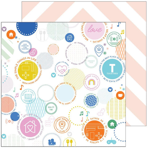 "Let's Stay Home - Pinkfresh Studios - Double-Sided Cardstock 12""X12"" - Best Place To Be"