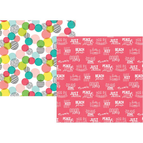 "Hello Summer Double-Sided Cardstock 12""X12"" - Best Day Ever"