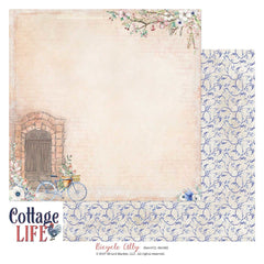 "Cottage Life - 49 & Market - 12""X12"" Patterned Paper - Bicycle Ally"
