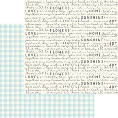 "Gingham Gardens - My Mind's Eye - Double-Sided Cardstock 12""X12"" - Birdie"