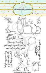 Clear Stamp - Colorado Craft Company - Birthday Wishing