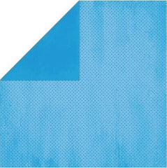 "BoBunny Double Dot Double-Sided Textured Cardstock 12""X12"" - Brilliant Blue"