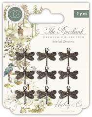 The Riverbank - Craft Consortium - Metal Charms - Dragonfly