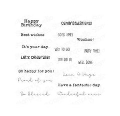 Stamping Bella - Cling Stamps - Celebrate & Congratulate Sentiment Set
