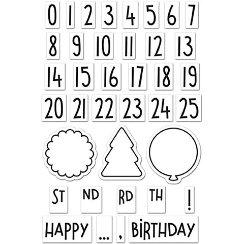 "Lawn Fawn Clear Stamps 4""X6"" - Celebration Countdown"