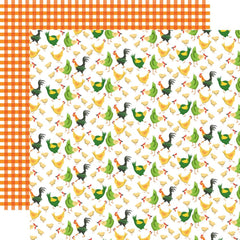 "Farm To Table - Carta Bella - Double-Sided Cardstock 12""X12"" - Chicken Coop"