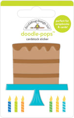 Party Time - Doodlebug - Doodle-Pops 3D Stickers - Chocolate Cake