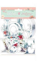 Gratitud  - Stamperia - Die Cuts - Christmas Alphabet
