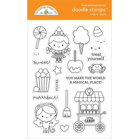 Candy Carnival - Doodlebug - Clear Doodle Stamps - Trick Or Treat