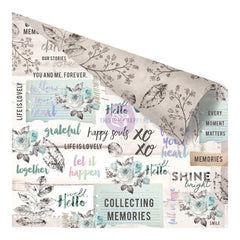 "Zella Teal Double-Sided Cardstock 12""X12"" - Collect Memories"