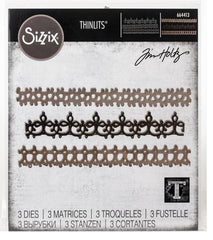 Sizzix Thinlits Dies By Tim Holtz 3/Pkg - Crochet #2