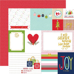 "Merry Christmas Gold Foiled Double-Sided Cardstock 12""X12"" -  Daily Details"