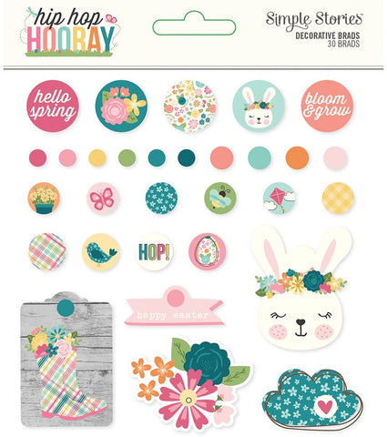 Hip Hop Hooray - Simple Stories - Decorative Brads