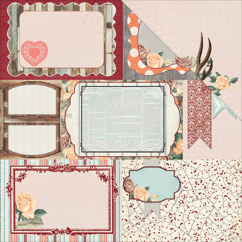 "Bella Rosa Double-Sided Cardstock 12""X12"" - Delicate"