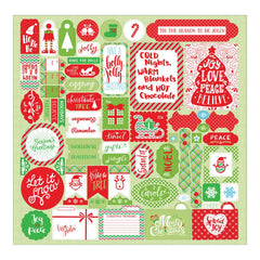 "Jolly Christmas Cardstock Stickers 12""X12"" - Details"