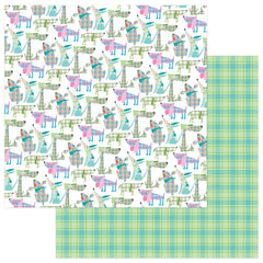 "Mad 4 Plaid Happy Double-Sided Cardstock 12""X12""- Dogs"