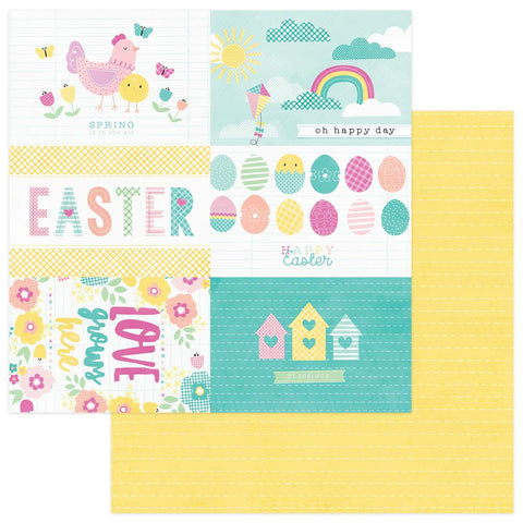 "Easter Blessings Double-Sided Cardstock 12""X12"" - Easter Basket"