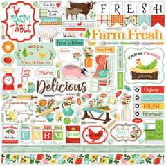 "Farm To Table - Carta Bella - Cardstock Stickers 12""X12"" - Elements"