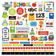 "Recess - Photo Play - Cardstock Stickers 12""X12"" - Elements"