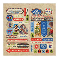 "Cultivate - Authentique - Double-Sided Cardstock Die-Cut Sheet 12""X12"" - Elements"