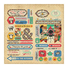 "Delicious - Authentique - Double-Sided Cardstock Die-Cut Sheet 12""X12"" - Elements"